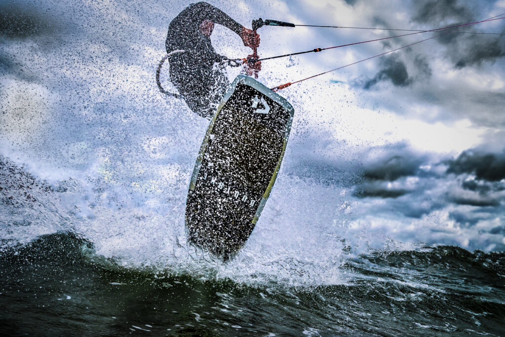duotone kiteboard in action