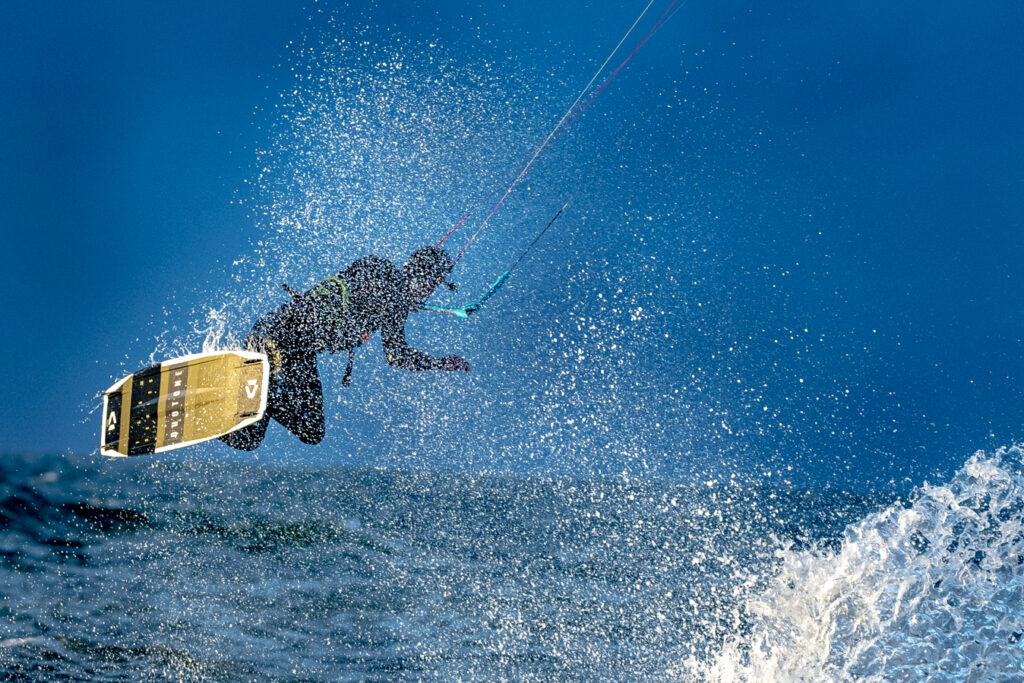 duotone kite surfing sunset