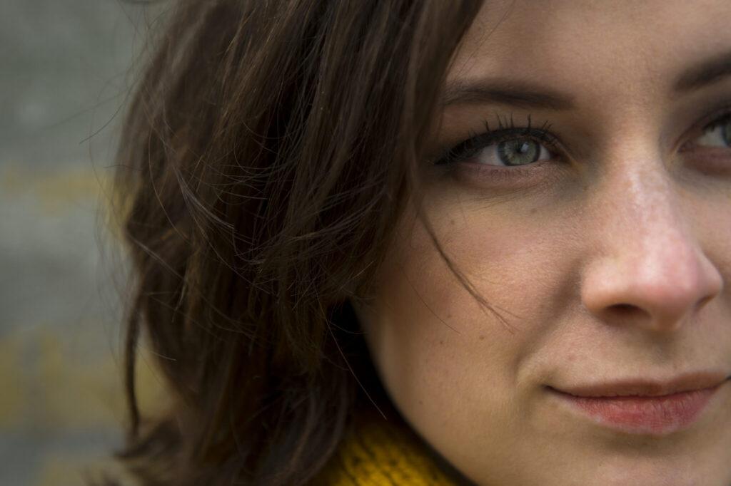 female closeup portrait