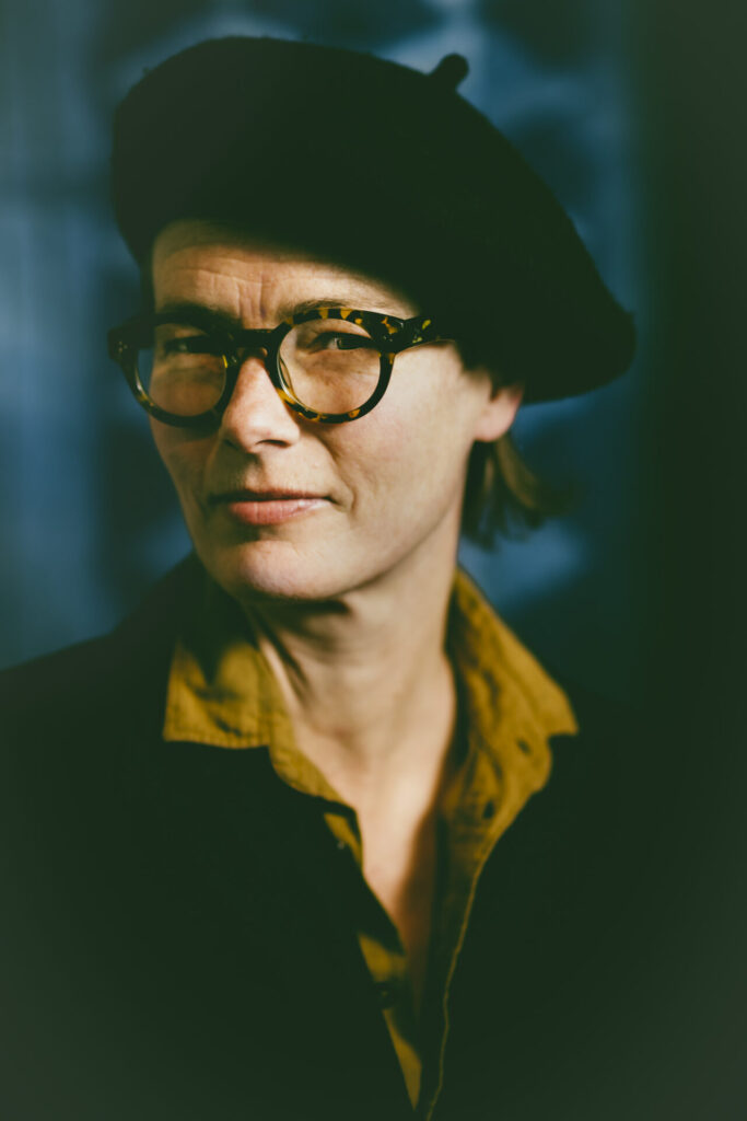 Female with glases portrait