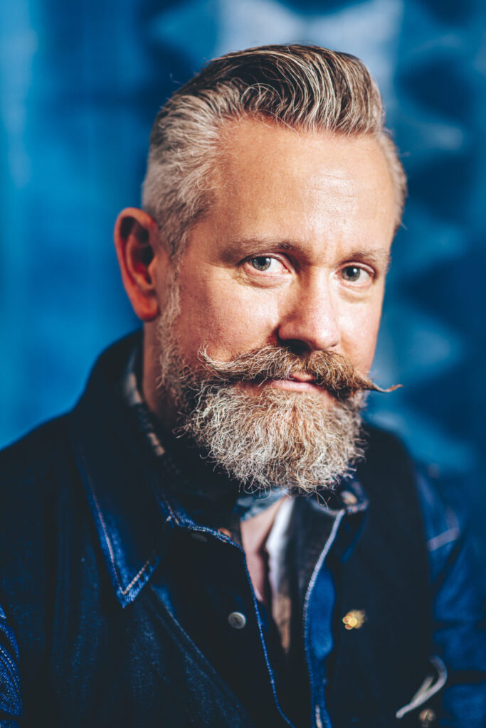 male in denim portrait