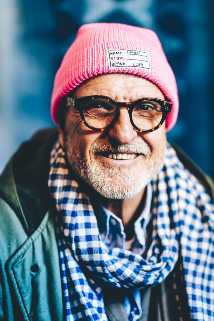 older hipster portrait